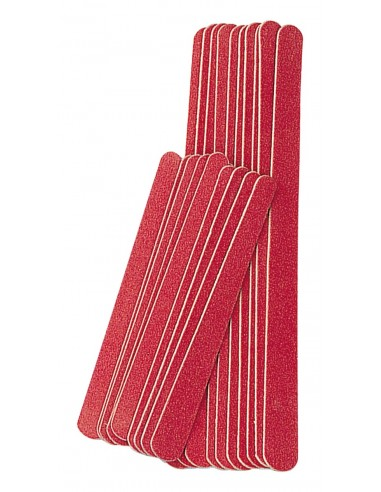 Nail file, red, 10 large + 10 small /...