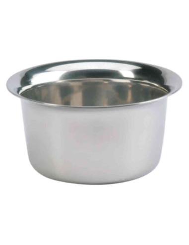 A bowl for shaving ,chrome,1piece.