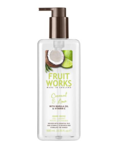 FRUIT WORKS Жидкое мыло, кокос/лайм...