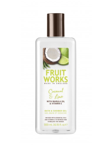 FRUIT WORKS Гель для душа, кокос/лайм...