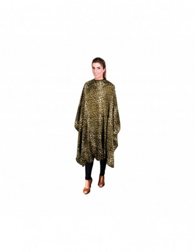 Cape with Velcro, with yellow leopard...