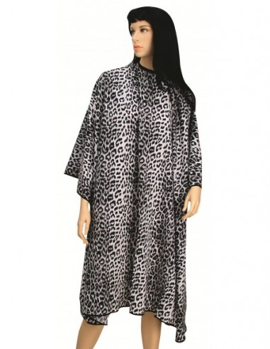 Cape with Velcro, with black leopard...