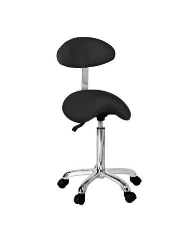 Master saddle stool with backrest...