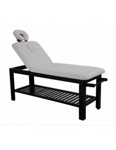 Beauty and massage bed with wooden...