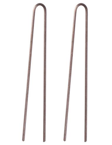 Hairpins, 60mm, straight, brown, 200g